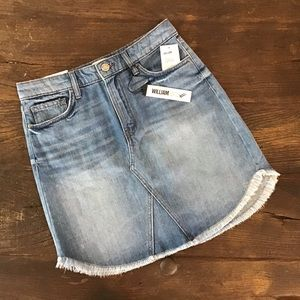 William Rast Joey Mini  Raw Hem Jean Skirt Size 27